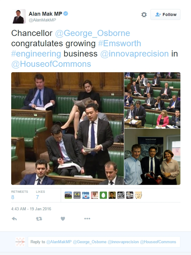 Innova mentioned in parliament